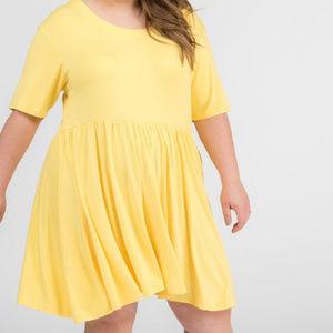 Agnes & Dora Modern Tunic Babydoll dress yellow